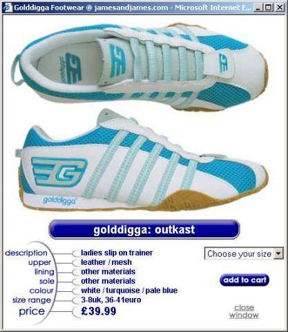 Photo of a juniors sports shoe