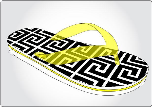 Image of an EVA flip flop design