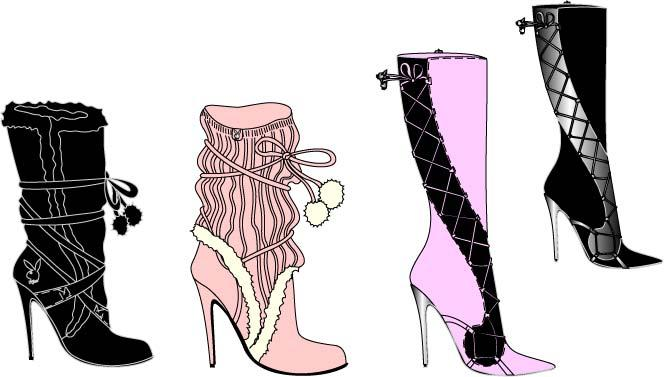 Image of a sexy clubwear boots design
