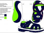 Image of a design for a boys sports sandal
